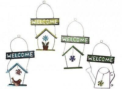 Wholesale-Resellers-24 X BIRDHOUSE WELCOME SIGNS  4 ASSORTED