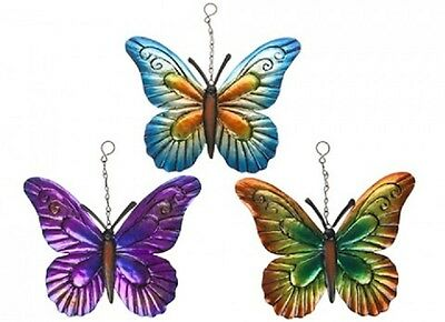 Wholesale-Resellers-24 X HANGING GARDEN BUTTERFLY  DECORATION - 3 ASST