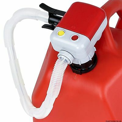 Electric Fuel Transfer Pump Battery Operated Diesel Gasoline Car Suv w Hose Set