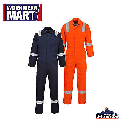 FR Coverall Flame Resistant Lightweight Anti-Static Boilersuit, Portwest UFR21