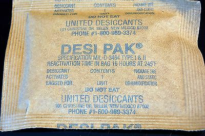 Lot of 10 Military Grade Full Unit Desiccant Packs Desi Pack  Re-Useable Clay
