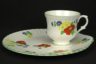 Crown Staffordshire English Garden Snack Plate & Cup Set(s) EUC
