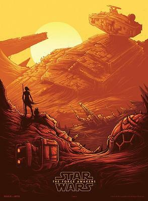 "STAR WARS THE FORCE AWAKENS Original Promo Movie Poster 9.5""x13"" IMAX 2015 AMC"