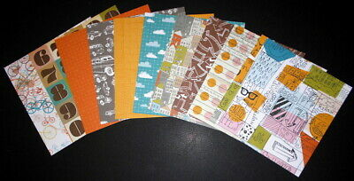 "Colourful ASSORTED PAPERS x 20  - 15cm x 15cm - (6"" x6"") Scrapbooking/Cardmaking"