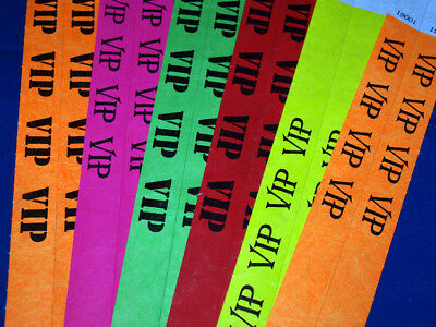 Tyvek Wristbands VIP 1,000 Bar Club Event Party Security Entry brazaletes