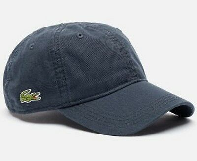 a2cdd194 Lacoste Roddick Classic Side Croc Back Tone Solid Hat Cap $50 NWT Navy
