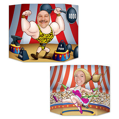 CIRCUS Strong Man/ Acrobat/ Flying Trapeze PHOTO PROP Birthday Party Decoration