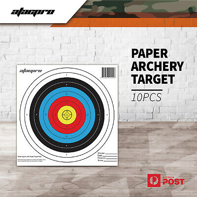 "Atac Pro Reinforced Paper Face Target 24"" For Compound Recurve Bow Archery 10pk"