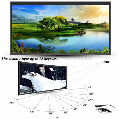 100'' Simple Projector Screen HD Portable White Curtain Canvas TV Movies 216*117