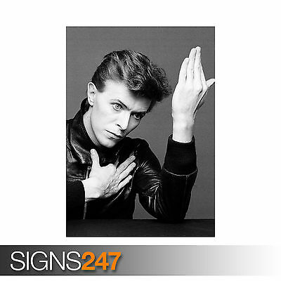 DAVID BOWIE GRAINY BLACK AND WHITE (1141) Photo Poster Print Art A0 A1 A2 A3 A4
