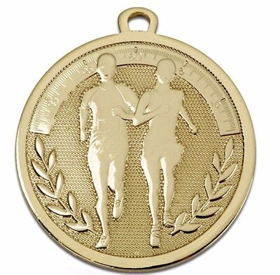 Running Medal Gold Silver or Bronze  FREE Ribbon & Engraving upto 30 Letters