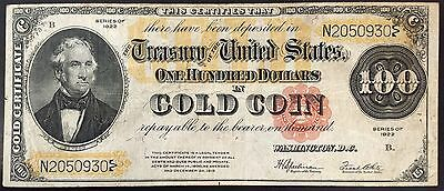 Series of 1922 One Hundred Dollars Gold Certificate! FR#1215! ($100.00)