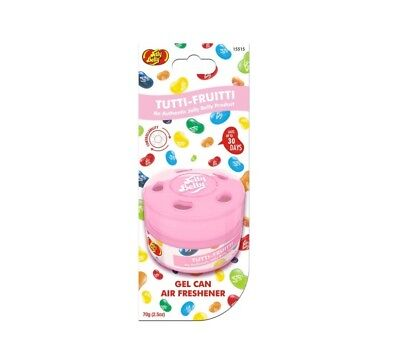 Tutti Fruitti Jelly Belly Bean Gel Can Car Home Air Freshener Sweet Smell Scent