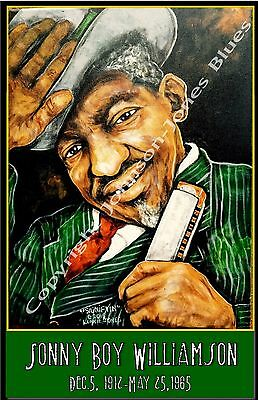 Sonny Boy Williamson Poster by Cadillac Johnson
