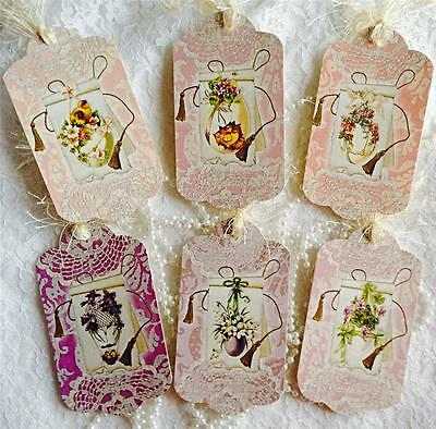 Easter~6 Shabby Chic~Large Hang Tags~Scrapbooking~Cards~#54~judysjemscrafts