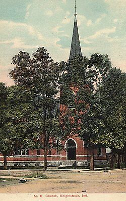 Knightstown, Indiana - M.E. Church - Postcard