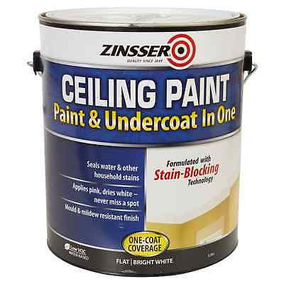 Zinsser Ceiling Paint & Undercoat in One BRIGHT WHITE 3.78L, One coat coverage