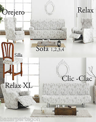 funda de sofa elastica chair cover  cover, clic - clac- relax xl, wing chair