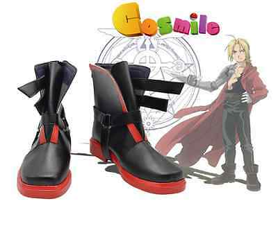 Anime Fullmetal Alchemist Edward Elric Cosplay Shoes Boots Cos Custom-made