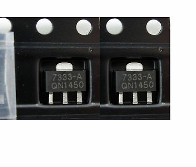 10 PCSHT7333-A HT7333 3.3V SOT-89 Low Power Consumption LDO Voltage Regulator