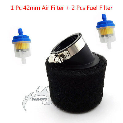 Fuel Air Filter 42mm Foam Cleaner For 125cc 140cc Pit Dirt Bike ATV Motorcycle