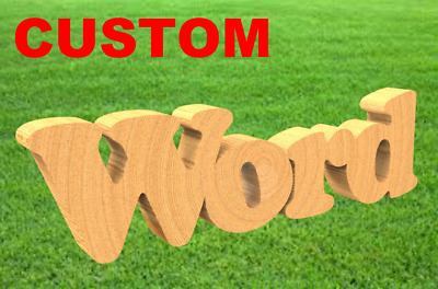 CUSTOM CUT MDF WOODEN LETTERS 20cm TALL 3mm THICK WOOD FONTS NAMES WORDS CUTOUT
