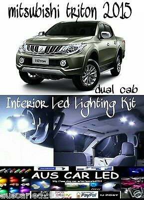 Mitsubishi Triton 2015 Dual Cab Bright White LED Interior Light globe bulb Kit