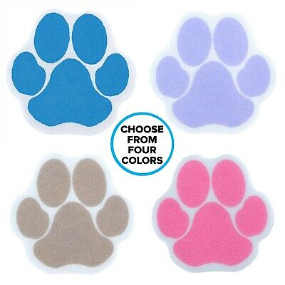 Adhesive Paw Print Bath Treads in Purple, Tan, Blue 6 Non-Slip Paw Shaped Treads