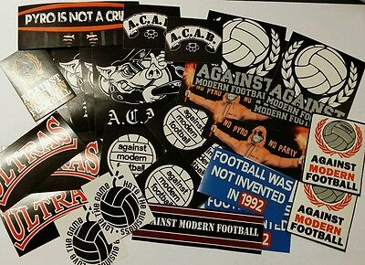 50x Against Modern Football / ACAB Stickers - AMF - Ultras Casuals Stickers set