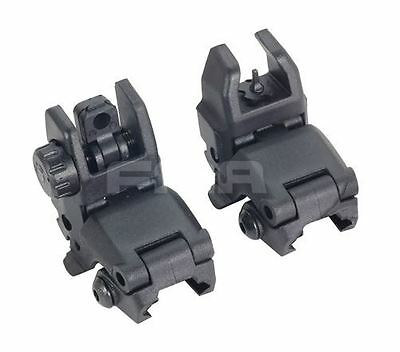 Airsoft Gen 1 Back Up Sights M Series Iron Sight Black Pts Flip Up Front