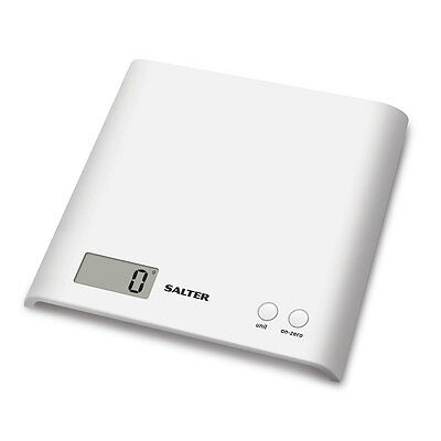 Salter 3kg Arc Electronic Digital Kitchen Scales White - 1066 WHDR15 - NEW