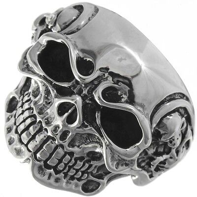 Navajo Made Sterling Tribal Skull Mens Ring Any Size 9-13 (Larger $15.00 more)