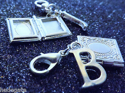 Silver Plated Personalised Locket Clip On Charms for Charm Bracelets & Jewellery