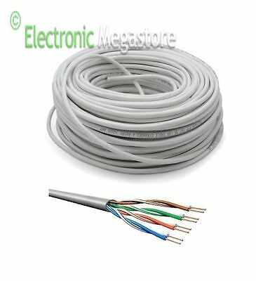 Cavo Di Rete 50 Metri Ethernet Utp Cat5 Lan Matassa Rj45 Network Internet Cable