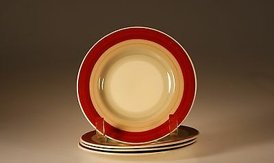 Susie Cooper Wedding Rings Rust Set of 4 Bread and Butter Plates, England c.1930