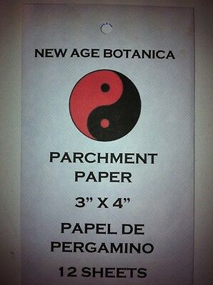 """New Age Botanica Products Genuine Parchment Paper 3"""" X 4"""" 12 Sheets Per Pack"""