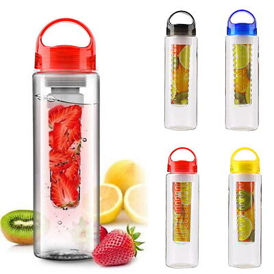 800ml Fruit Infuser Water Bottle Sports Health infusing Juice Maker Drink Cup SA