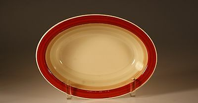 Susie Cooper Wedding Ring Rust Oval Vegetable Bowl, England c.1930