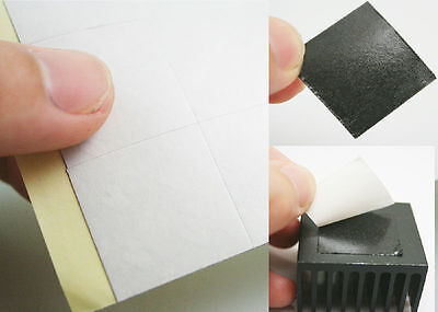 50PCS 25*25mm Square Double-sided Thermal Adhesive Tape Sticker For Heatsink