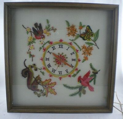 Vintage Lanshire Electric Clock Movement Stitchery USA Working Roman Numbers Tag