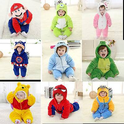 Soft Baby Toddlers' Outerwear Unisex Cosplay Animal Onesie Costume romper Spring