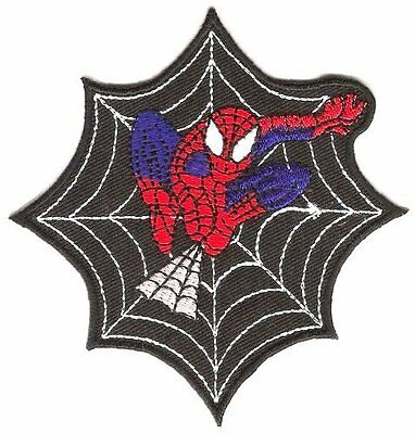 Spiderman Web Iron On Sew On Cartoon Embroidered Shirt Badge Patch
