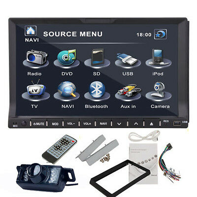 """Samsung Head Touch Double 2Din 7"""" Car Stereo DVD Player USB/SD IPod BT + Camera"""