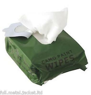 Web-tex Camo Paint Wipes Camo Cream Wipes Resealable Olive Green Face Wipes Army