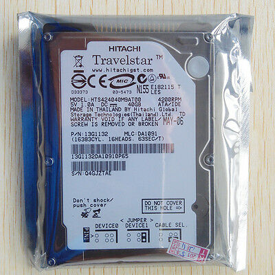 """2.5"""" HDD IDE PATA 40GB 4200RPM Hard Disk Drive For laptop Hitachi Toshiba WD"""