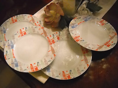 4 Zakee Shariff Coca Cola Homage to Andy Wahol's Coke Bottles Dinner Plates RARE