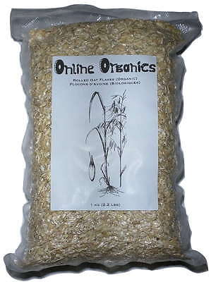 Organic Rolled Oat Oats Flakes (1 Kg 2.2 Lbs) Vacuumed Packed - OnlineOrganics