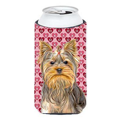 Hearts Love and Valentines Day Yorkie & Yorkshire Terrier Tall Boy bottle sle...