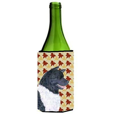 Carolines Treasures Akita Fall Leaves Portrait Wine Bottle Hugger 24 oz.