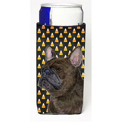 French Bulldog Candy Corn Halloween Portrait Michelob Ultra s For Slim Cans 1...